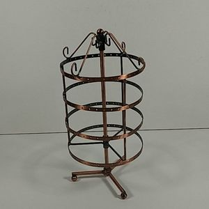 Copper tone spinning jewelry stand 1026